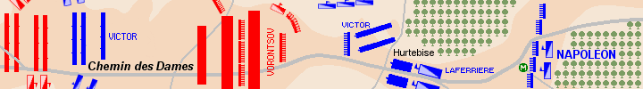 Detail of the map of the battle of Craonne