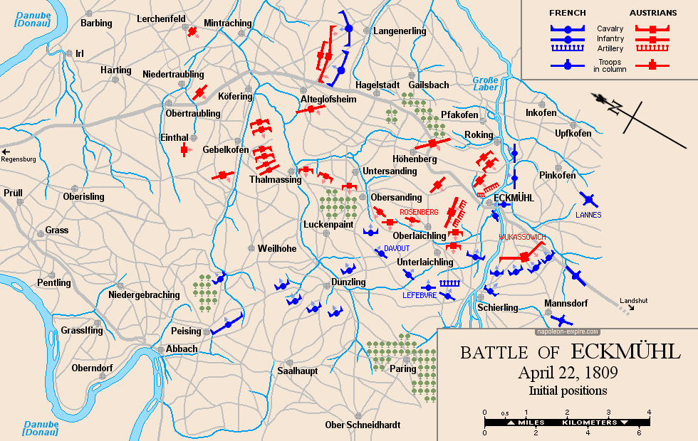Map of the situation at the beginning of the battle