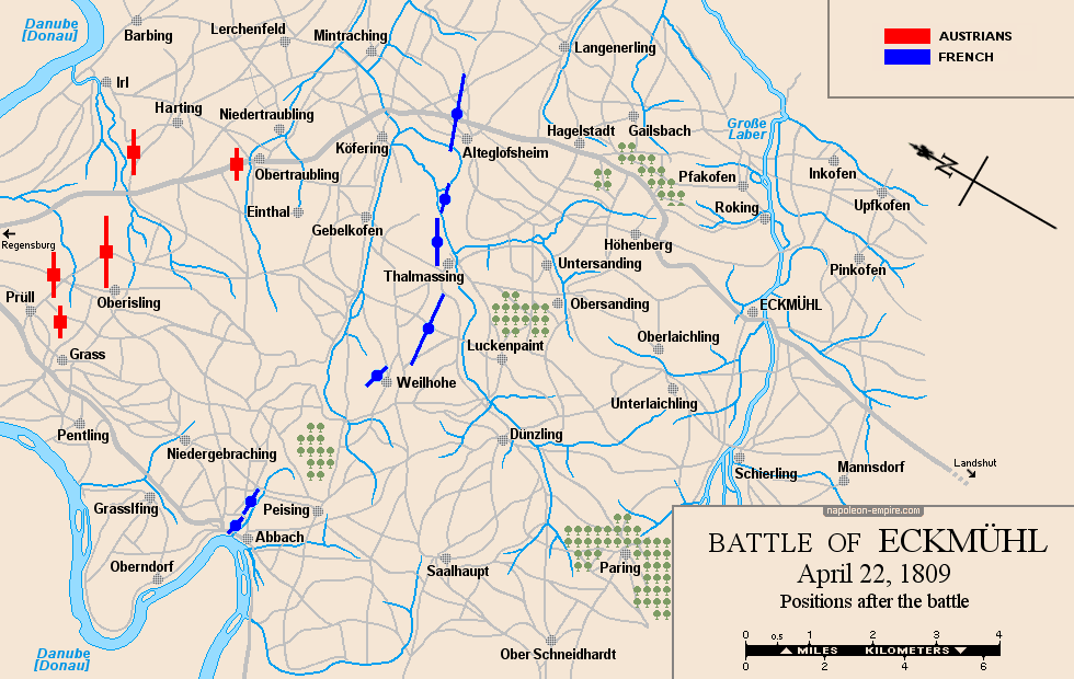 Map of the situation after the battle