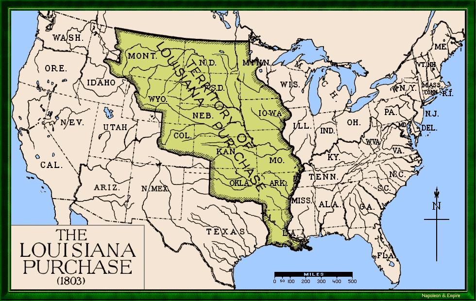 Louisiana territory in 1803