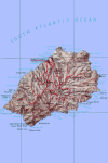 Map of Saint-Helena
