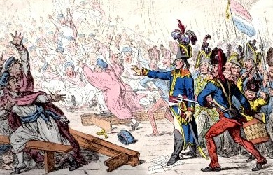 18 brumaire Year VIII, by James Gillray