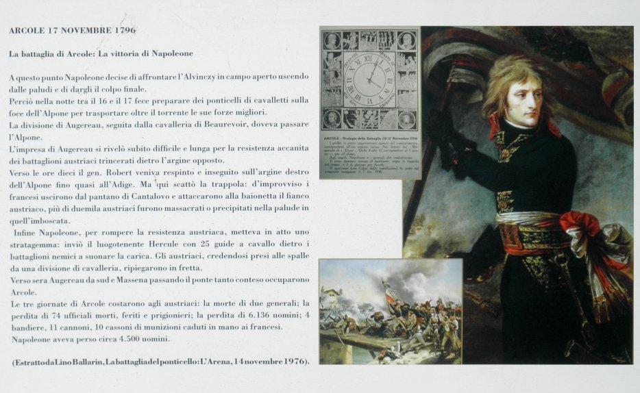 Plaque commémorant la victoire de Bonaparte à Arcole