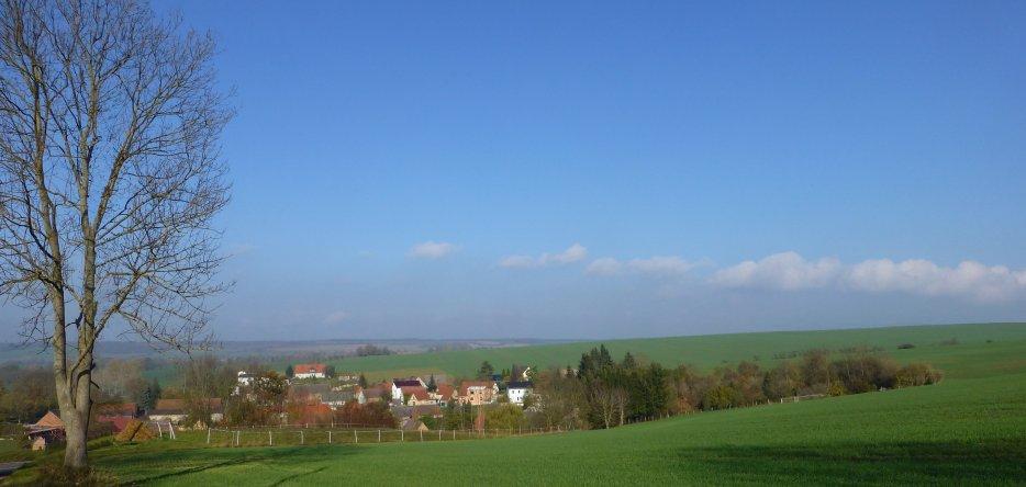 Le champ de bataille près de Rehehausen
