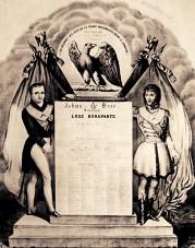Tableau de la Loge maçonnique Bonaparte, circa 1810