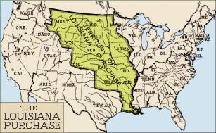 Le territoire de Louisiane en 1803