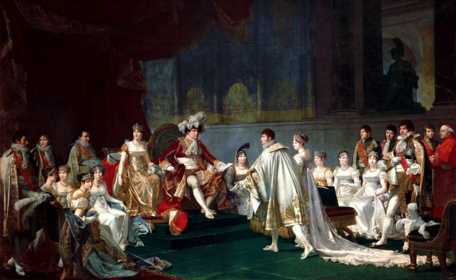 Wedding of prince Jérôme and Catharina of Württemberg, in the presence of the Imperial Family