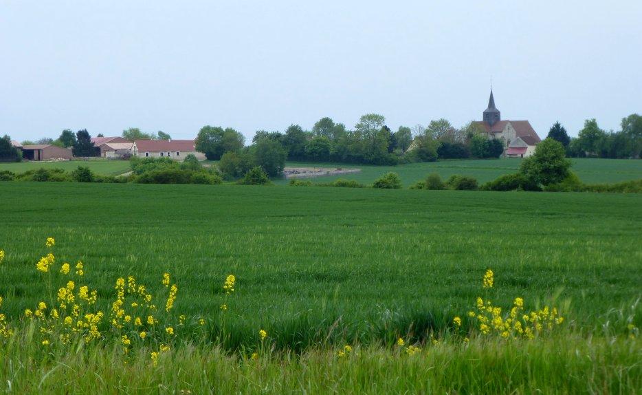 Marchais-en-Brie : vue du village