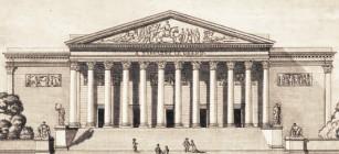 Vue du palais Bourbon sous l'Empire, gravure d'époque