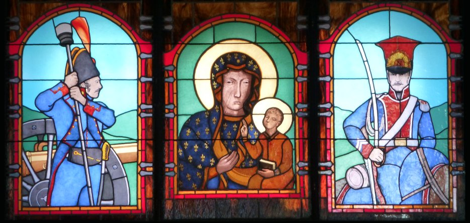 Somosierra : le vitrail de la chapelle