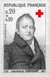 Timbre à l'effigie de J.-N. Corvisart