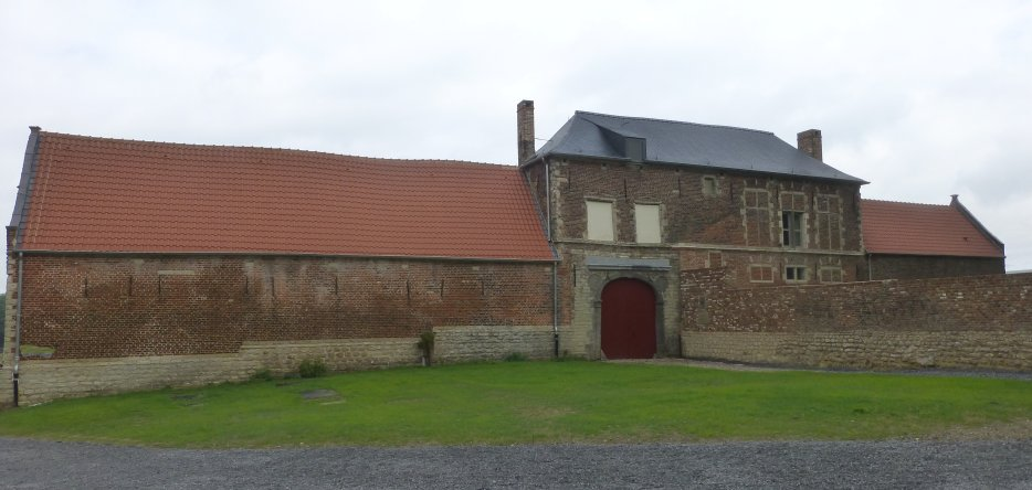 The Hougoumont farm on the Waterloo battlefield