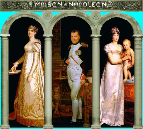Joséphine, Napoléon, Marie-Louise  et  Napoleon-François-Charles-Joseph