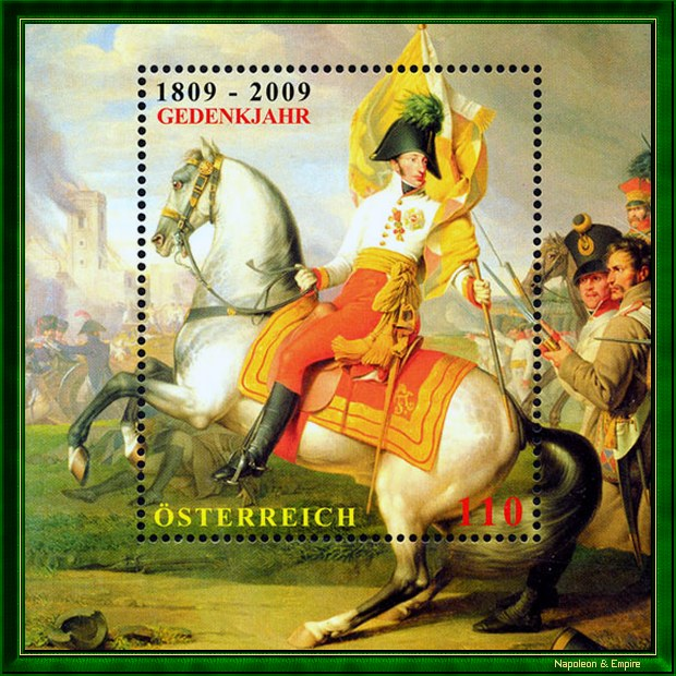 Austrian stamp depicting Archduke Charles of Austria