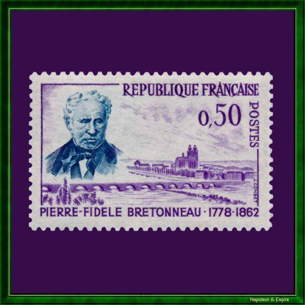 French stamp issued in 1962 for the centenary of the death of Pierre-Fidèle Bretonneau