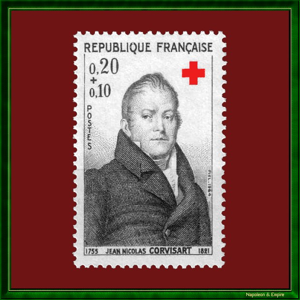 French 20 cents stamp issued in 1964 showing Jean Nicolas Corvisart