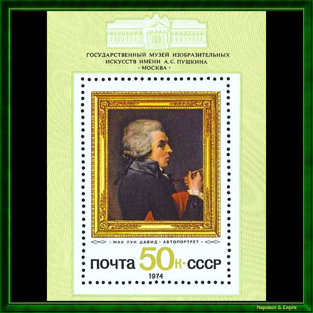 Soviet stamp depicting Jacques Louis David