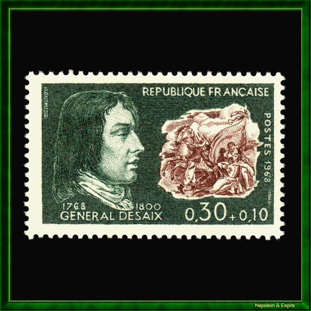 French stamp issued in 1968 for the bicentennial of the birth of general Desaix