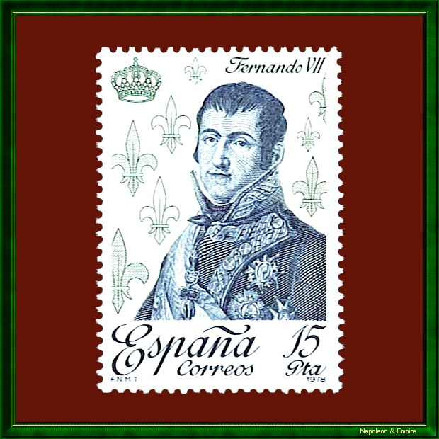 Spanish stamp depicting King Ferdinand VII
