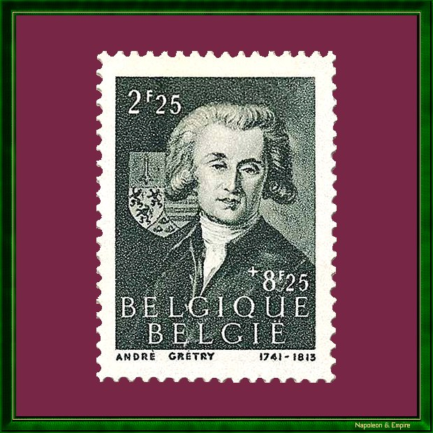 Belgian stamp representing André Grétry
