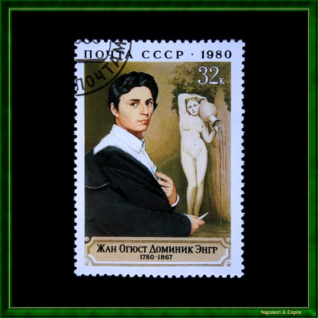 Soviet stamp issued in 1980 for the bicentennial of the birth of Jean Auguste Dominique Ingres