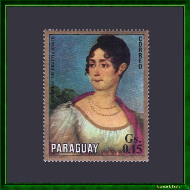 Paraguayan 0.15 Guarani stamp issued in 1971 showing Joséphine de Beauharnais