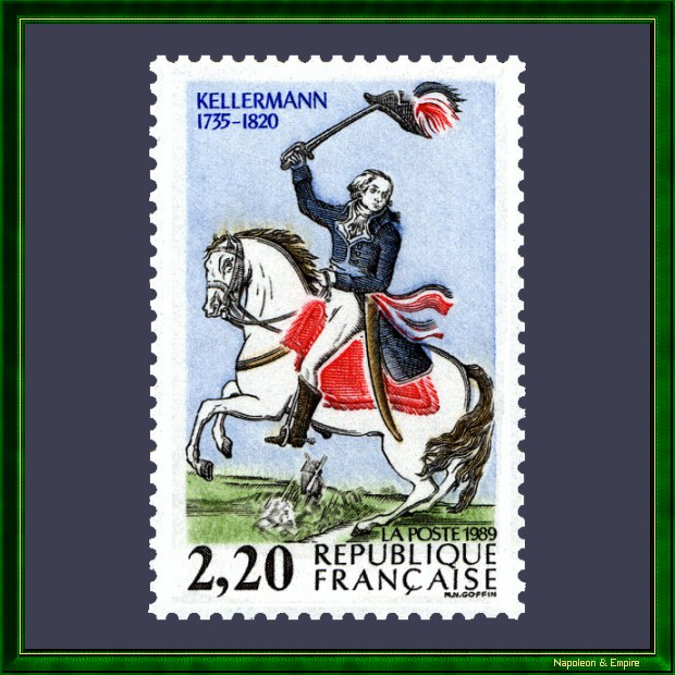 French stamp issued in 1989 on the occasion of the bicentenary of the French Revolution representing general Kellermann
