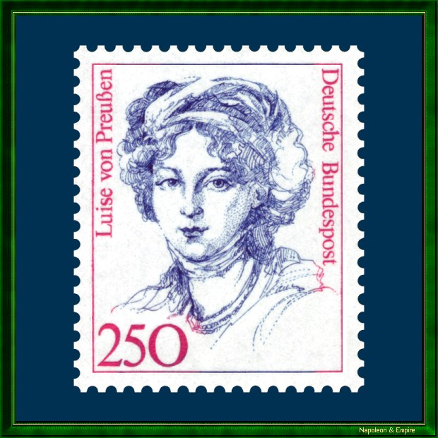 German 250 pfennig stamp issued in 1989 representing Louise of Prussia