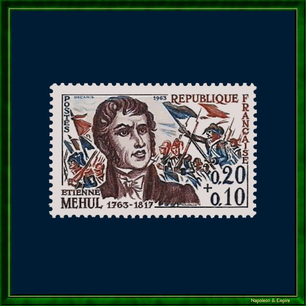 French stamp issued in 1963 to mark the bicentenary of the Etienne Méhul's birth