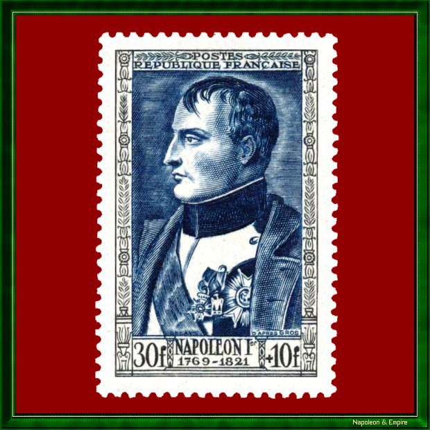 French 30 francs stamp issued in 1951 depicting Napoléon Ist