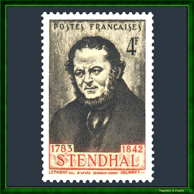 French stamp issued in 1942 to mark the centenary of the death of Henri Beyle