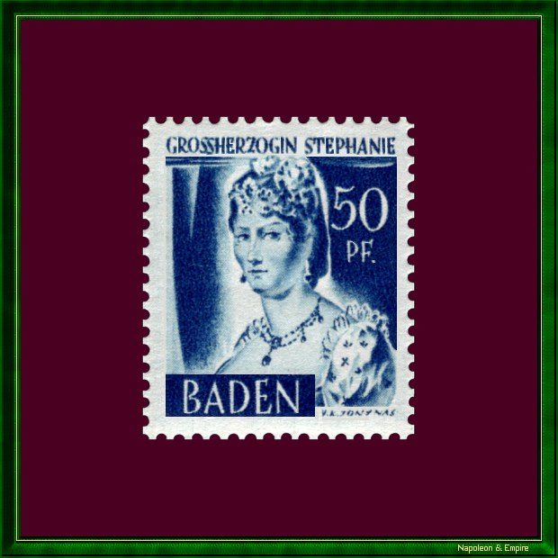 Stamp of Baden depicting Stéphany of Beauharnais