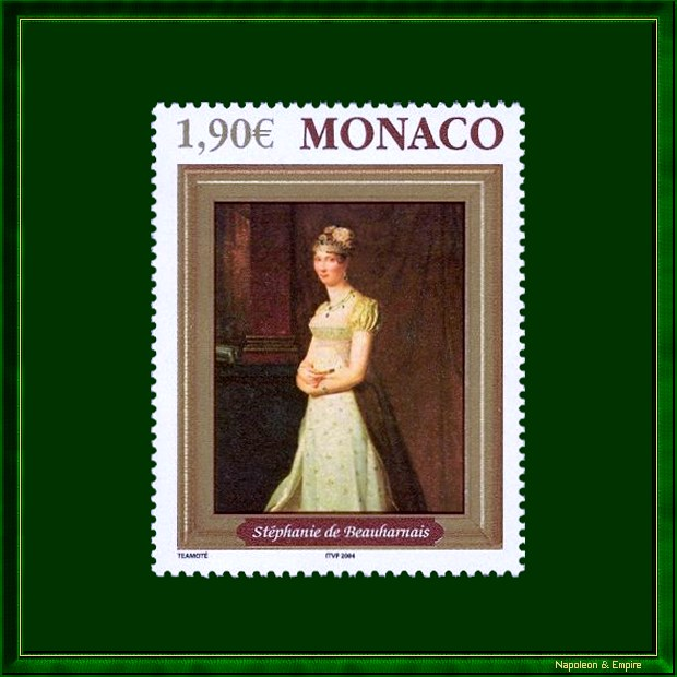 Monaco stamp depicting Stéphany of Beauharnais